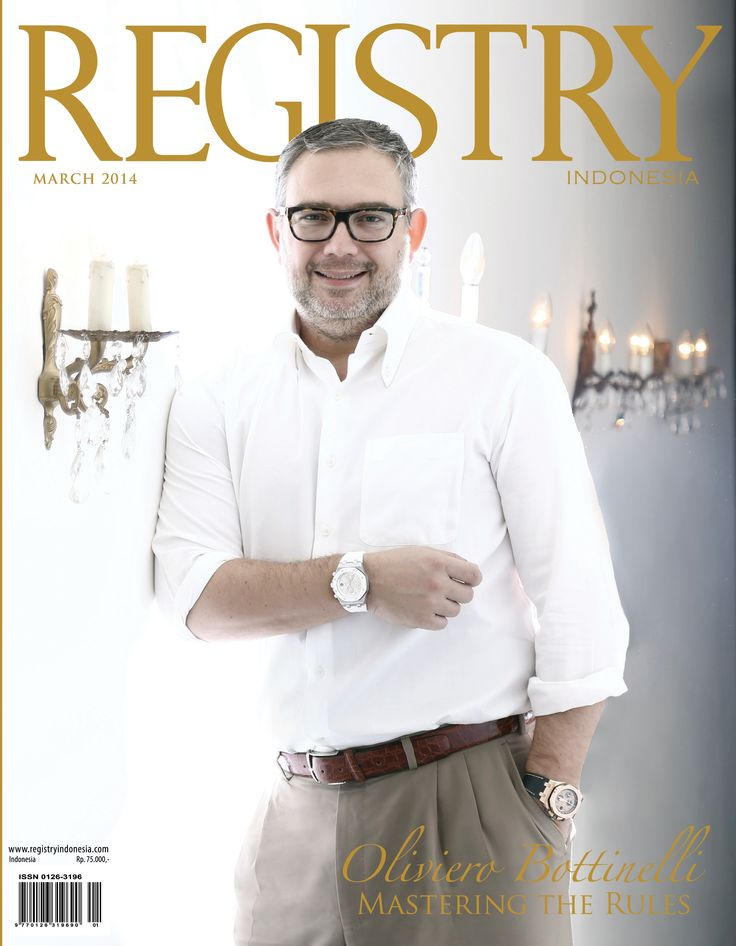 #Registry e Magazine        March 2014 Edition  #Photographer : Registry Indonesia #Socialite : MR. OLIVIERO BOTTINELLI (Mastering The Rules) #registryE #Cover