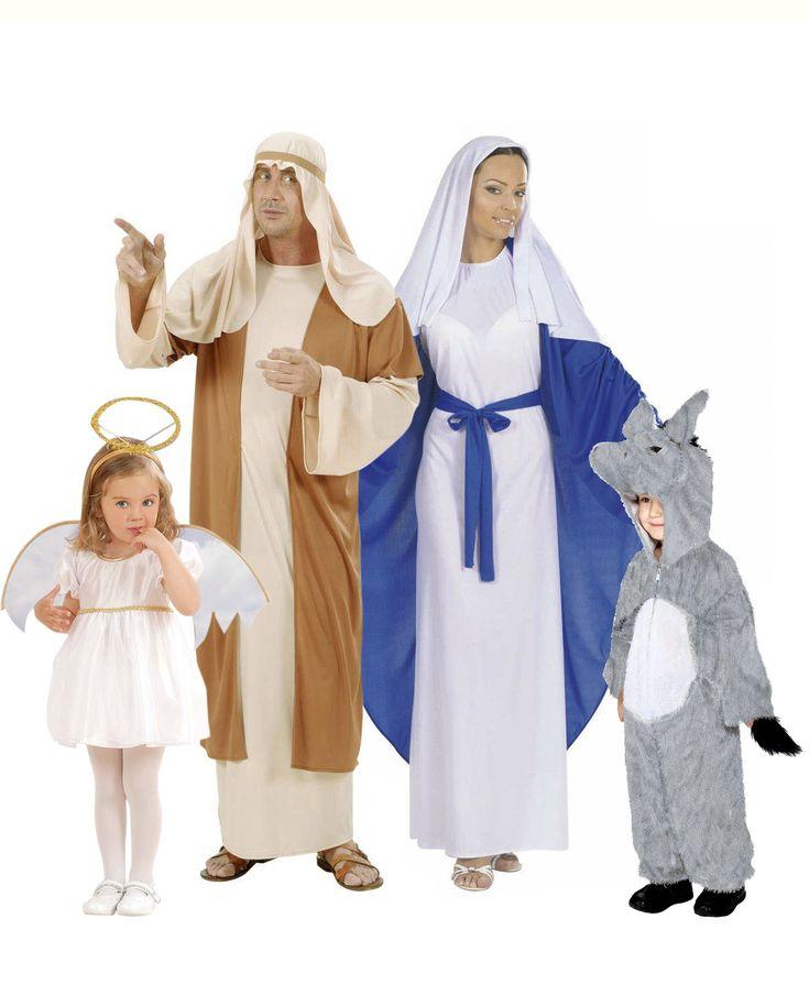 Déguisement famille crèche de Noël : Cet ensemble se compose de 4 déguisements qui vous permettront de créer votre propre crèche pour Noël.Déguisement Marie Noël femmeCe déguisement de...