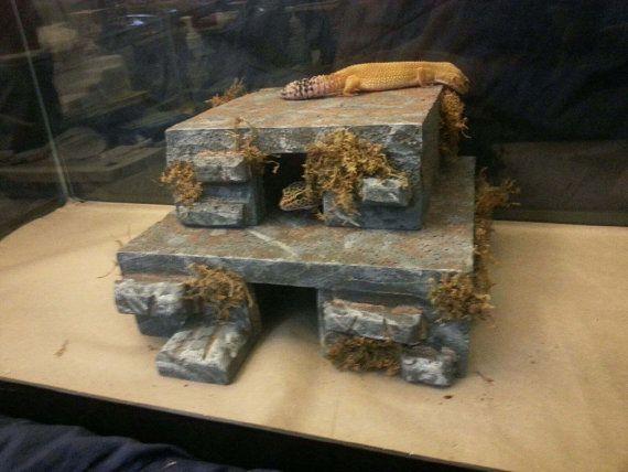 reptile hide - leopard gecko hide - bearded dragon - snake hide - 10 gallon - basking hide