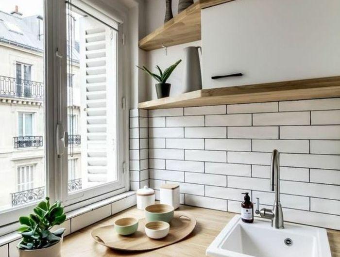 Le Carrelage Metro Blanc Fait Fureur Dans La Cuisine Avec Images