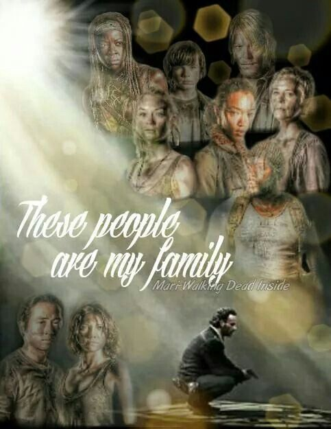 """These people are my family.  If you hurt them in any way I'll kill you!"" ~ Rick Grimes favorite quote..."