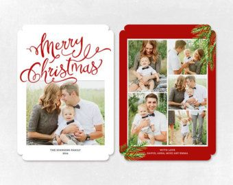Digital Photoshop Christmas Card Template For Photographers Psd Flat Card Christmas Card Psd Template Christmas Card Template Card Templates Card Template