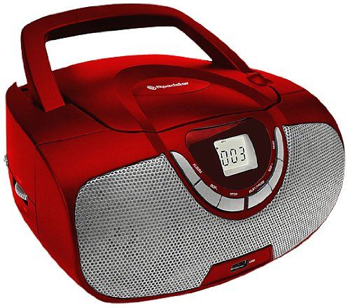 Roadstar Portable Stereo System with CD/MP3 Player, USB and AM/FM Radio - Red: Amazon.co.uk: TV
