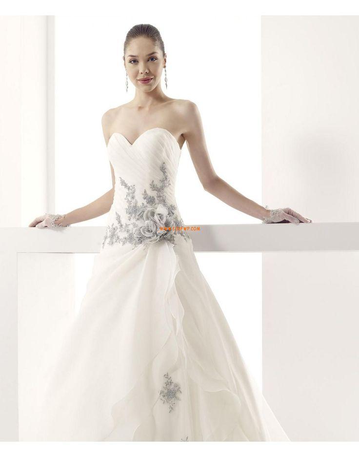 Traîne moyenne Organza Crystal détaillant Robes de mariée 2015