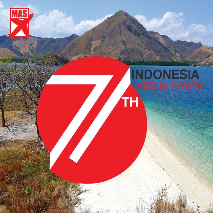 Selamat Hari Kemerdekaan Indonesia yang ke - 71 . Indonesia Kerja Nyata ! #hutri71 #kemerdekaan