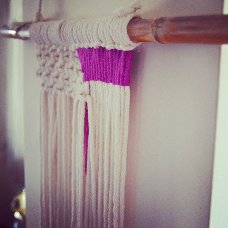 a close up of a macrame wall hanging im working on hotel decormacrame - Violet Hotel Decor
