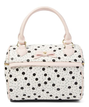 Pink & White Spot Speedy Insulated Lunch Tote #zulily #zulilyfinds.  This is the cutest lunch pail!