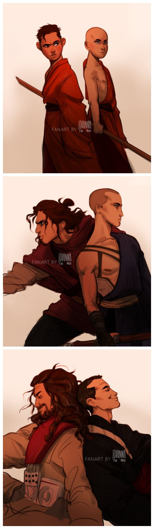 My brother thought this was some weird fan art of Sokka and Aang  (So sweet though!)
