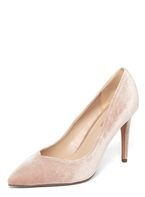 Womens Blush Velvet 'Evie' Court Shoes- Pink