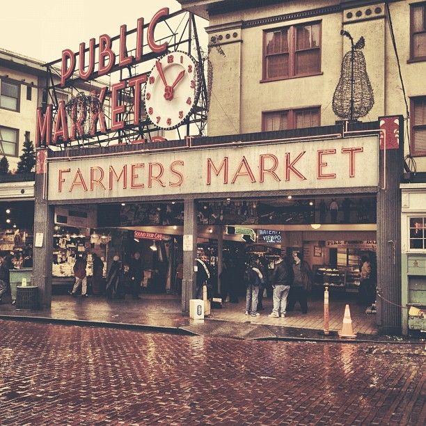 Seattle Pike Place Market (original Starbucks is here) cool. I want to catch a fish at the fish market!