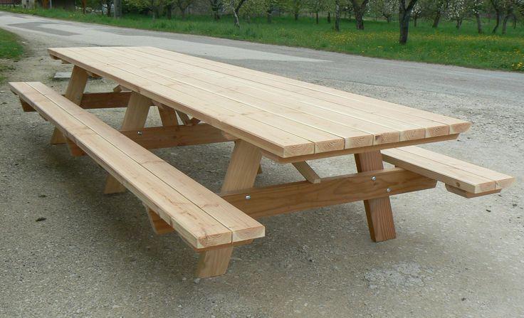 table pique-nique en bois massif