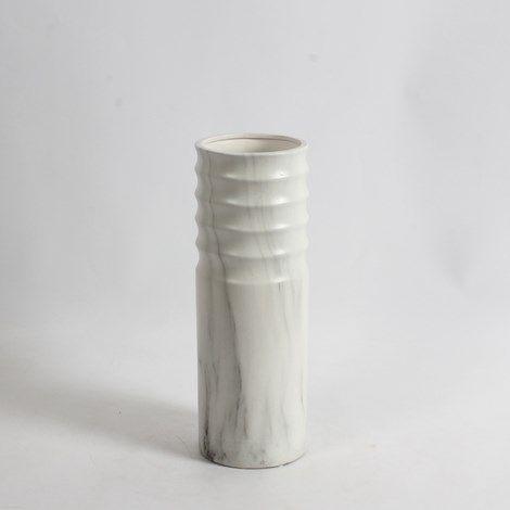 """12.75"""" H Marble Look Round Ceramic Vase I Medium www.lambertpaint.com"""