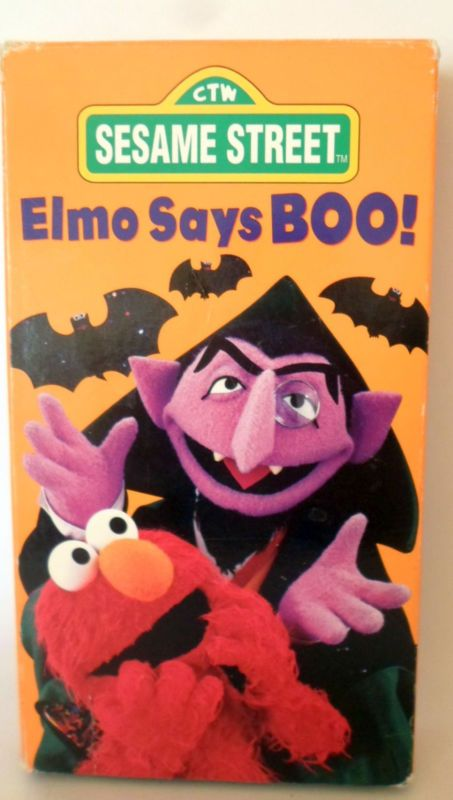 Sesame Street - Elmo Says Boo (VHS, 1997) | Halloween ...