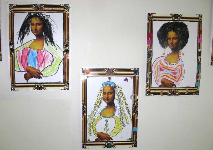 Mona Lisa, thema kunst voor kleuters, kleuteridee.nl , Art theme preschool 5. Met gratis download van template en lijst.