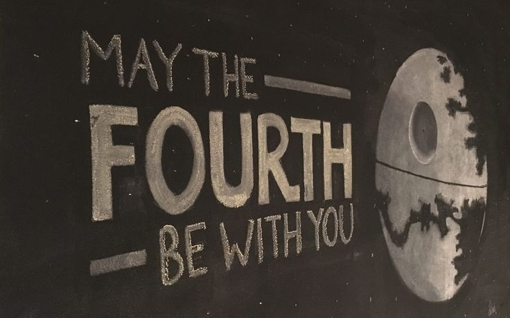 May the Fourth Be With You! Chalk Death Star by Dawn Moseke
