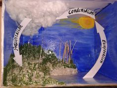 How To Make An Eco Friendly Model On Water Cycle In Kids Science Project