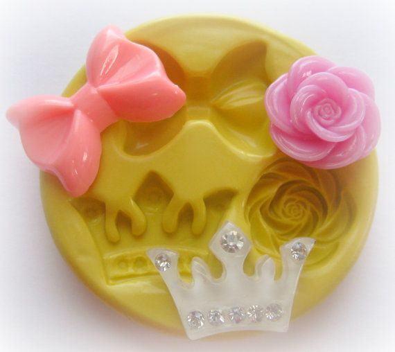 Molds Bow Crown Rose Flower Mold Fondant Resin Polymer Clay Mold. $7.95, via Etsy.