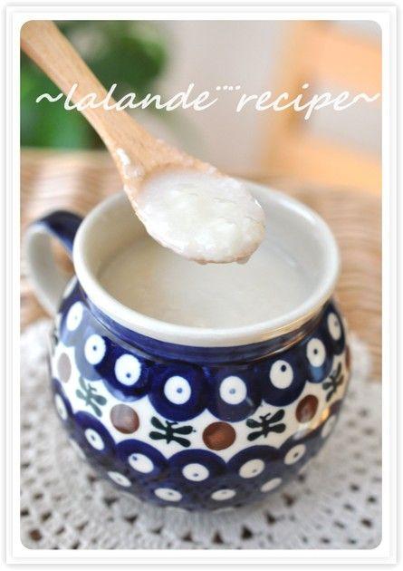 砂糖不使用・ノンアルコール、 米麹ともち米で作る本格的な甘酒です。 美容にもからだにもよくて ほっとする美味しさです♪