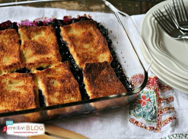 Overnight Blueberry French Toast Casserole | TodaysCreativeBlog.net