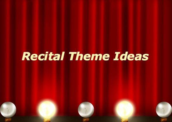 15 best Recital Ideas images on Pinterest