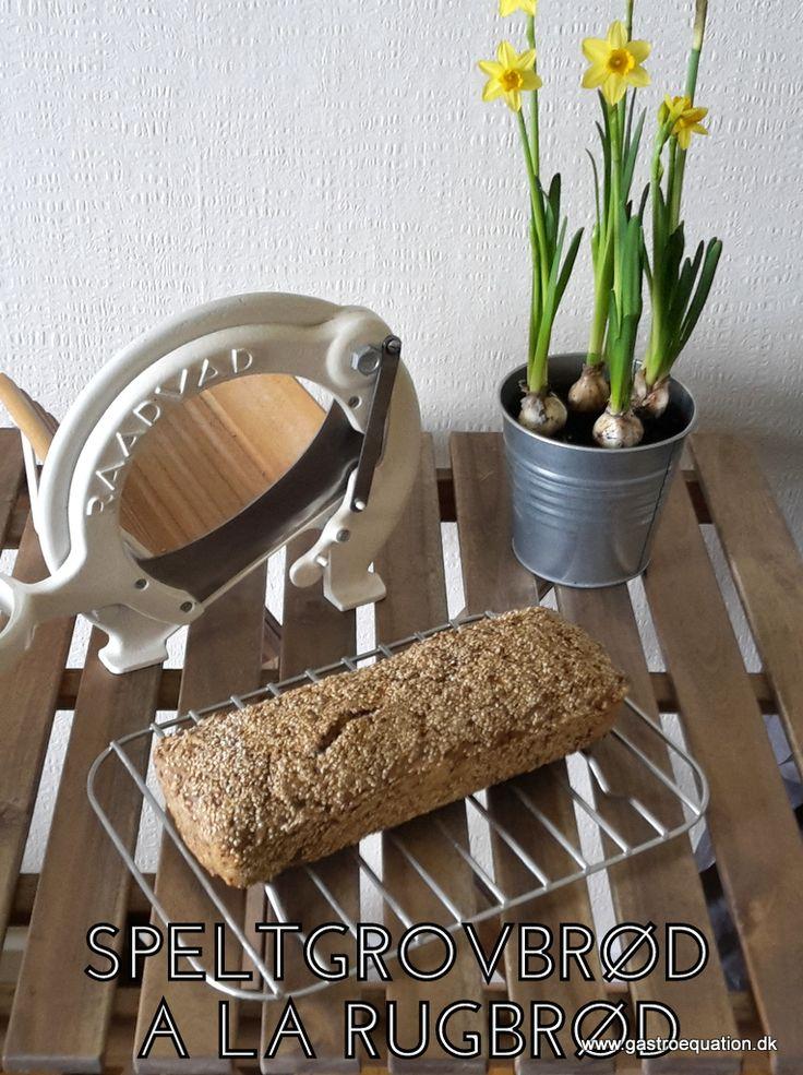Mangler du også nogle gange dit rugbrød på low fodmap diæten? Så er der hjælp at hente her, prøv dette speltgrovbrød a la rugbrød.
