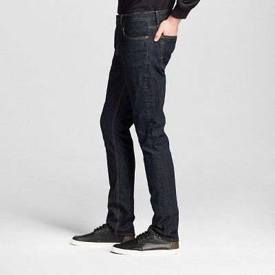 Men's Slim Jeans Dark Wash - Mossimo Supply Co. 38x30, Blue