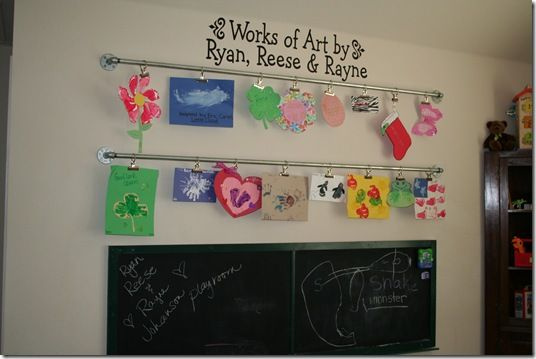 ways to display kids artwork | Rod - 9 DIY Ways to Display Kid's Art ... | All Women Stalk
