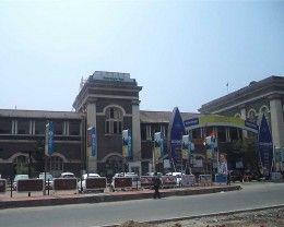 The majestic Thampanoor Railway Station at Thiruvananthapuram, Kerala, India