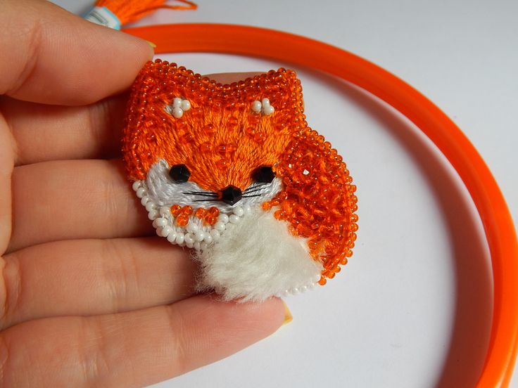 Brooch fox Jewelry fox Brooches Handmade fox brooch Handmade jewelry Hanamade gift Jewelry fox by jewelryshopbyElen on Etsy