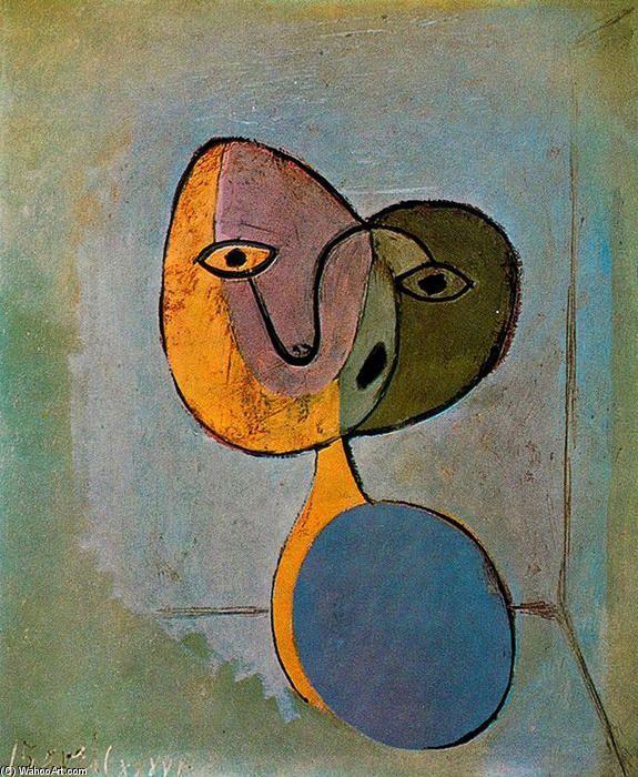 'porträt von frau', öl auf leinwand von Pablo Picasso (1881-1973, Spain)