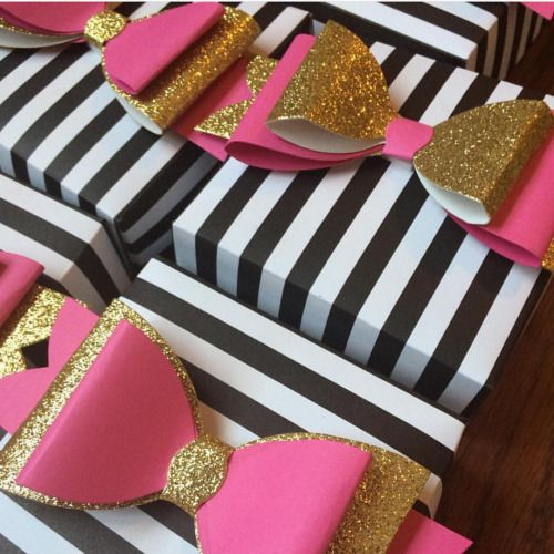 mint green hot pink black white and gold party decor - Google Search