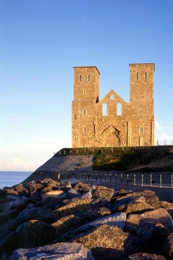 Reculver Towers, near Margate - English Heritage. Open access, but visitor centre only open at weekends. #ruins