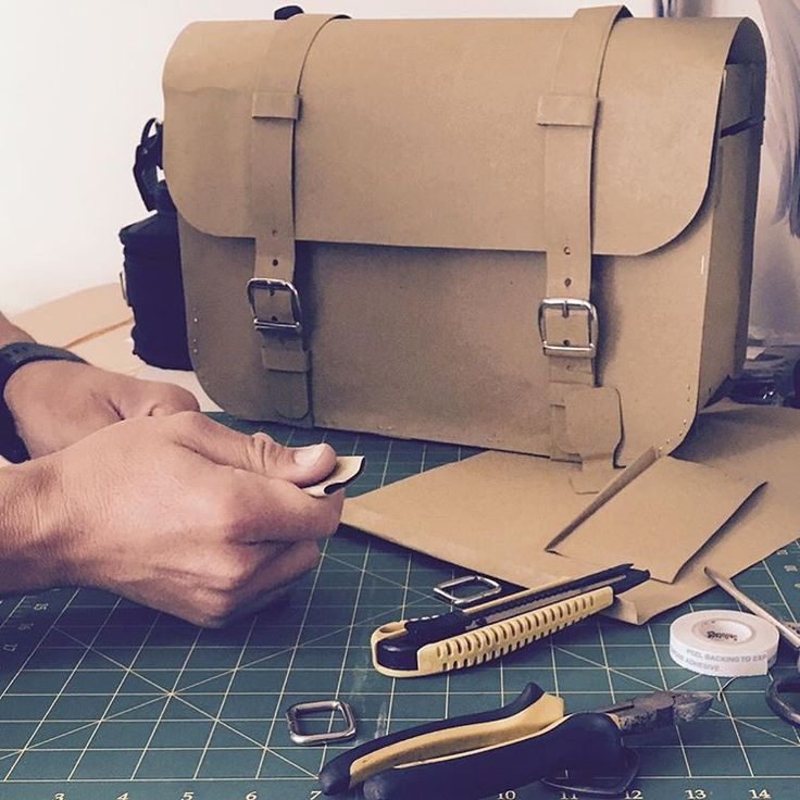 Henk Berg | Designing a new leather briefcase | #tasdesigned #tasmania #modelmaking #design #leatherbag #henkberg #vegetabletanned #bag #leather