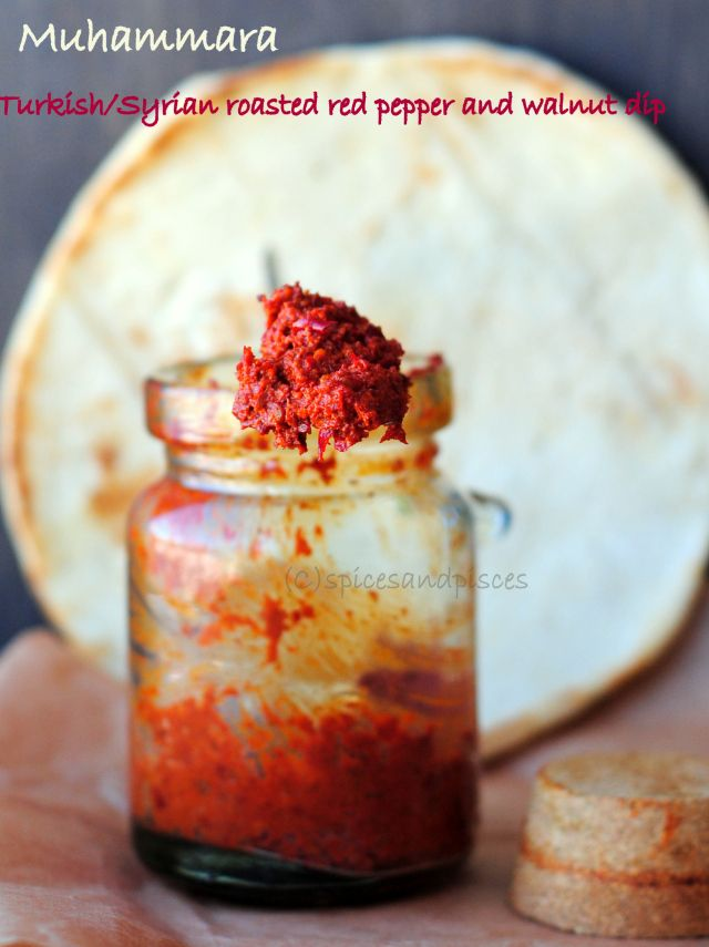 red pepper and walnut spread and a giveaway | Red Peppers and Red