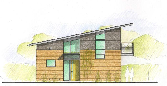Backyard Cottage Prefab Design House Plan Affordable: 8 Best Single Pitch Roof Images On Pinterest