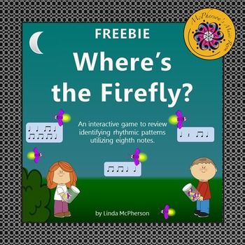 Your students will love watching the fireflies fly into the jar when they listen to a eighth note rhythmic pattern and then choose the correct answer!  They will not want this student interactive PowerPoint to end!  A fun resource for the Orff and Kodaly music room!