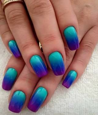 217 best gradient/ombre nails images on pinterest  nail