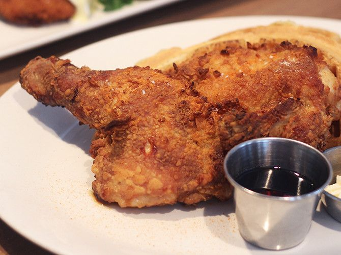 Best fried chicken and waffles in Vancouver
