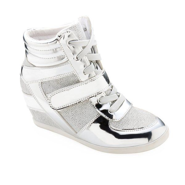 New Fashion Women's Lace Up Velcro High Top Ankle Wedge Heels Sneaker Boots Shoe GHK89289