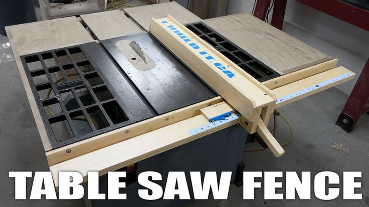 Wooden Table Saw Fence System Plans for sale.