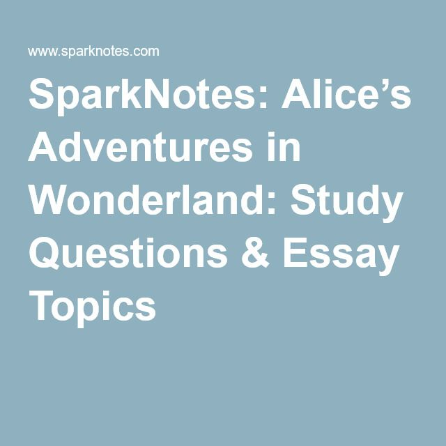 Alice in wonderland essay questions