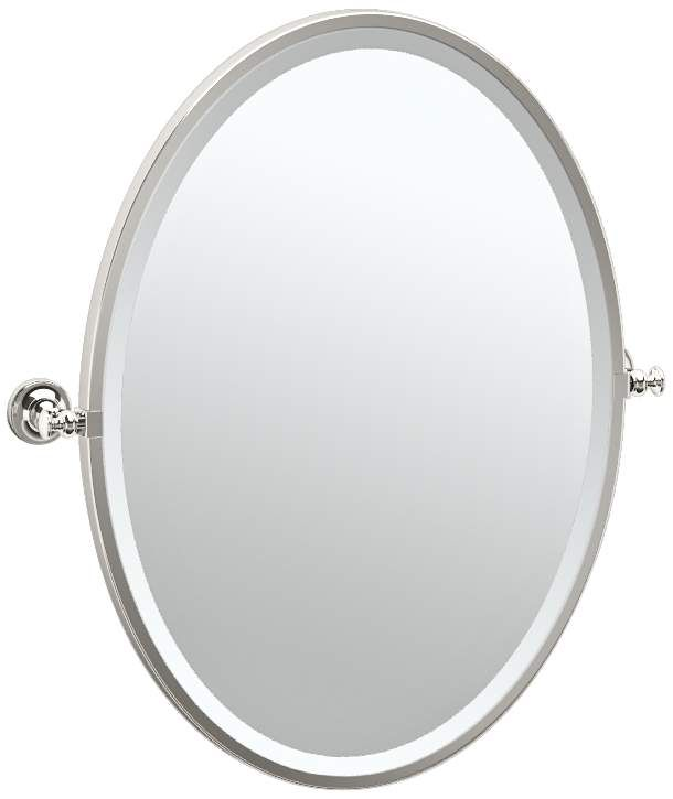 Mirrors Gatco Tavern Polished Nickel 24 1 2 X 27 Wall Mirror In 2020 Mirror Wall Polished Nickel Mirror
