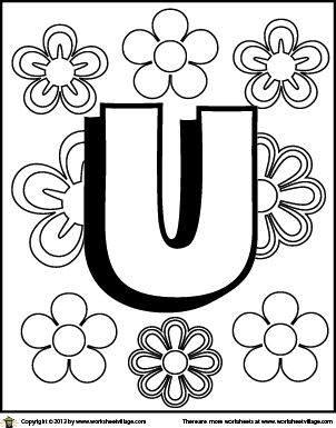 color the letter u