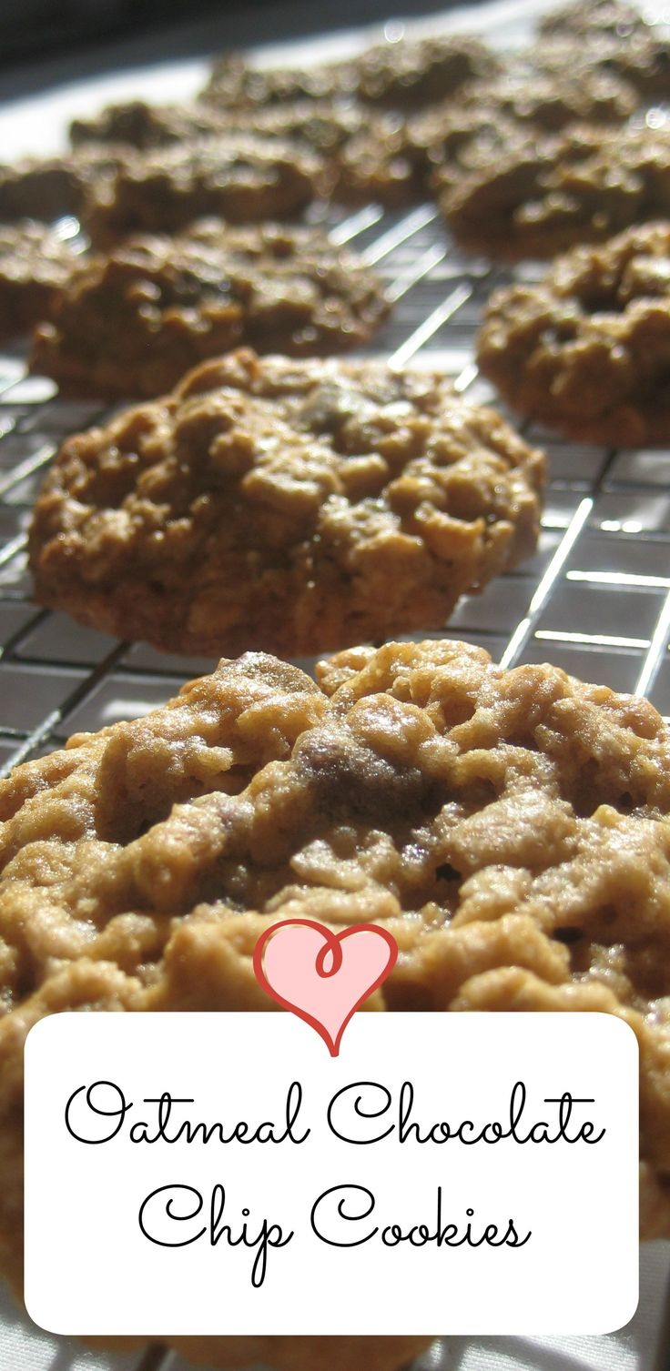 Oatmeal Chocolate Chip Cookies are so delicious and satisfying.  This recipe makes 3 dozen!
