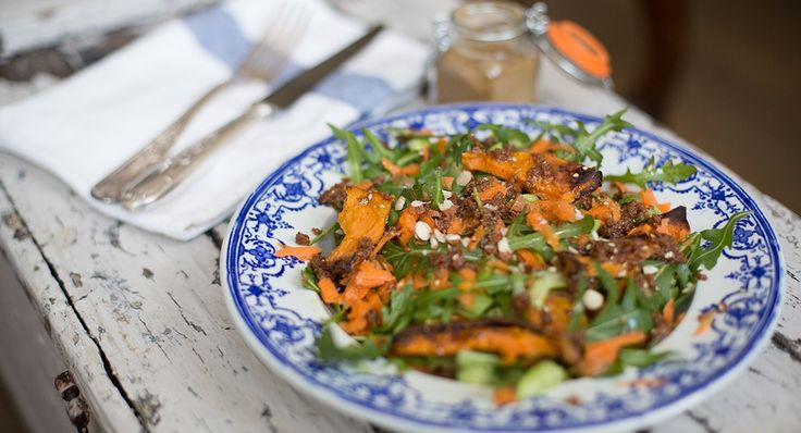 Sweet Potato, cashew, carrot and miso salad