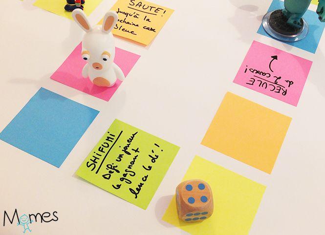 un jeu de l 39 oie g ant avec des post it jeu jeux de et g ant. Black Bedroom Furniture Sets. Home Design Ideas