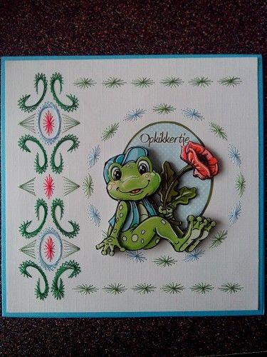 Voorbeeldkaart - borduren Opkikkertje - Categorie: Borduren - Hobbyjournaal uw hobby website