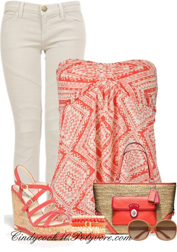 """#Farbbberatung #Stilberatung #Farbenreich mit www.farben-reich.com """"Warmer Days Are Coming"""" by cindycook10 on Polyvore"""