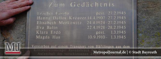 (BT) Gedenktafel auf dem Stadtfriedhof Bayreuth für Verstorbene aus KZ Ravensbrück - http://metropoljournal.de/?p=7973