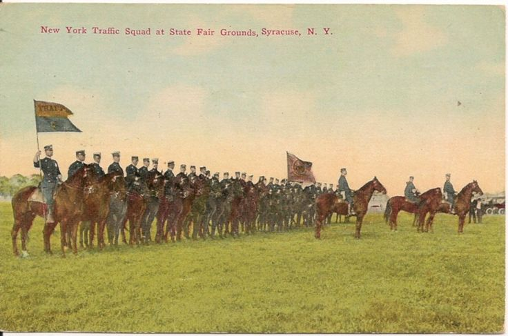 New York Traffic Squad at State Fair Grounds Syracuse NY Postcard 1912   eBay